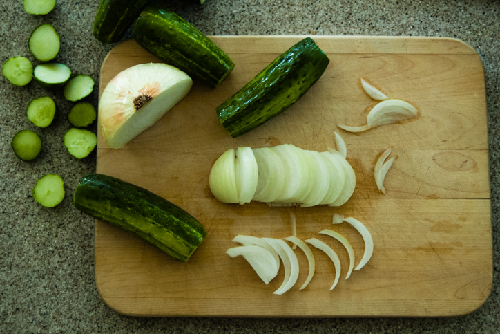 cukes and onions