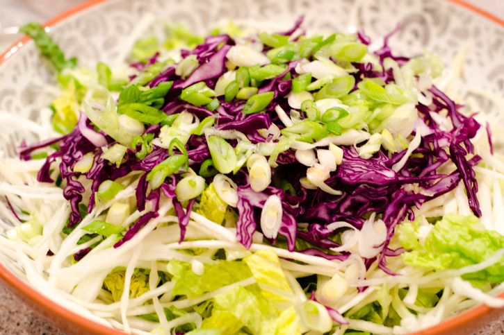 chopped salad scallion layer