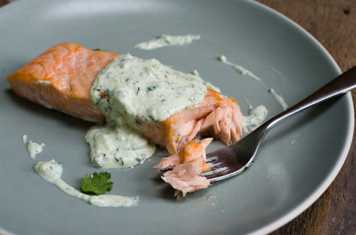 salmon fillet and sauce 5